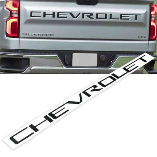 Black Tailgate letters FIT Chevrolet Silverado 2019 2020 ABS Plastic Inserts US