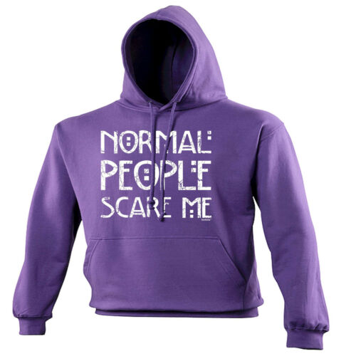 Normal People Scare Me HOODIE hoody Emo Rude Punk Rock Top birthday fashion gift