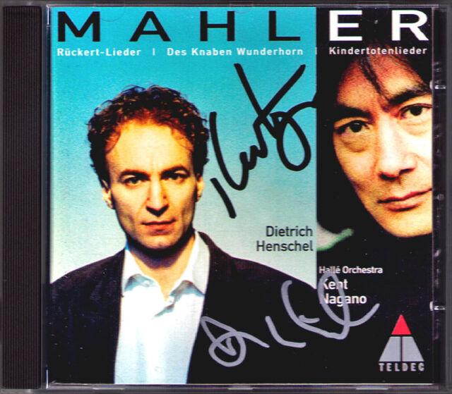 Dietrich HENSCHEL & Kent NAGANO Signiert MAHLER Kindertotenlieder Wunderhorn CD