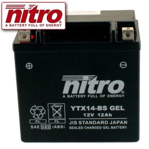 2015 NITRO ytx14-bs GEL BATTERIA APRILIA Caponord 1200 ABS ZD BJ
