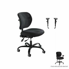 Safco Mesh Big And Tall Office Chair With Alday Arm Kit In Black
