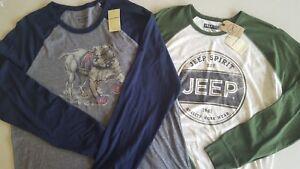 LUCKY-BRAND-Men-039-s-Long-Sleeve-Cotton-Graphic-T-Shirts-Jeep-British-Bulldog