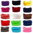 Solid Colors Tube Scarf Bandana Head Face Mask Neck Gaiter Snood Headwear Beanie