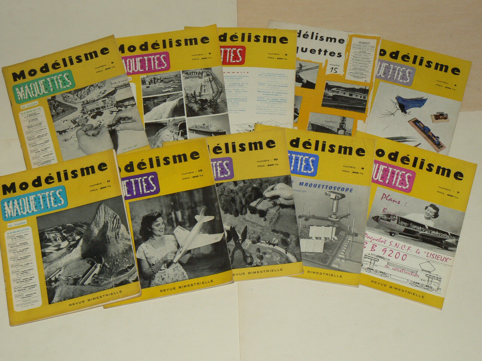 Lot 10 Magazines Modelisme Maquette  An 55 à fer 58 Train Chemin de fer à  Avion jouet 727c61