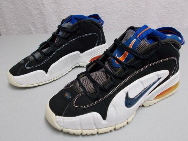 hot sale online 69150 3c7fd Nike Air Max Penny B Men s 624017 041 Black Blue White Basketball Shoes  Size 9