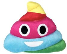 Rainbow Poop Emoji Plush Pillow Emoji Expressions 12.6 in x 12.6 in x 3.94 in