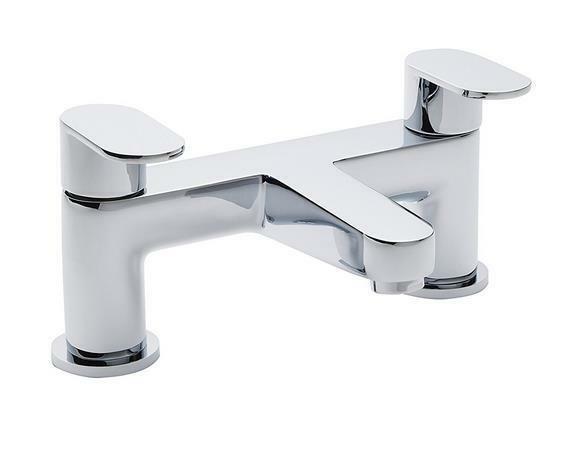 Ultra RAT313 Ratio bain robinet de remplissage-Chrome H12 X W23 X D14 cm Robinet portée 14 cm