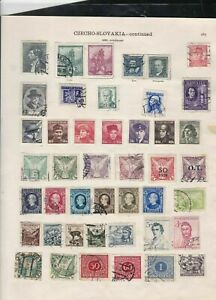 czechoslovakia 1936 stamps page ref 18111