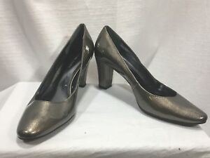 Etienne-Aigner-10M-Glossy-Platinum-Thick-Heel-Haven-leather