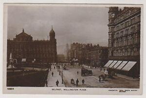 Northern-Ireland-postcard-Belfast-Wellington-Place-Co-Antrim-RP-A10