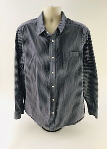1915a21bb0d65 Eddie Bauer Mens Big   Tall Navy Blue Shirt Size 2XL Legend Wash ...