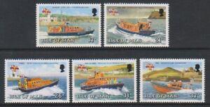 Isle-of-Man-1991-Lifeboats-set-MNH-SG-469-73