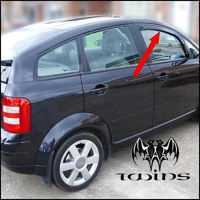 Set 2 Deflettori Aria Antiturbo Oscurati Audi A2 Audi A 2 anteriori