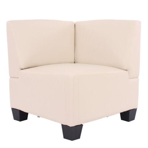 Modular Sofa Lyon Kunstleder creme Eckteil