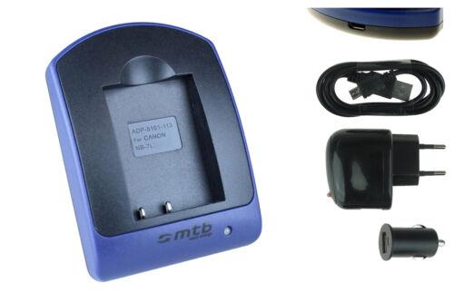Cargador NB-7L NB7L para Canon PowerShot G10 USB G11 G12 // SX30 IS
