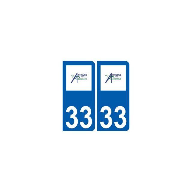 33 Artigues-près-Bordeaux logo ville autocollant plaque stickers droits