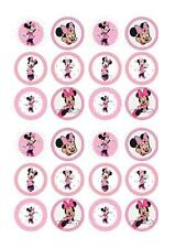 Minnie mouse Edible Fairy Cup Cake Decoration Toppers Rice Paper x 24
