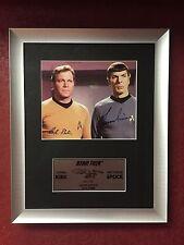 STAR TREK TV series Framed photo signed by WILLIAM SHATNER and LEONARD NIMOY