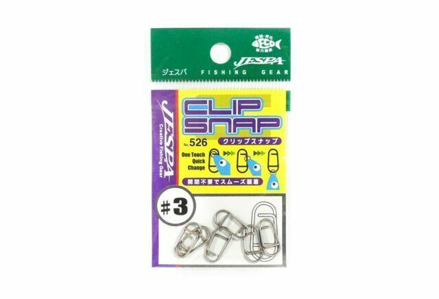 Yarie Jespa M 8937 22lb test 526 Clip Snap 6 piece per pack Size 3