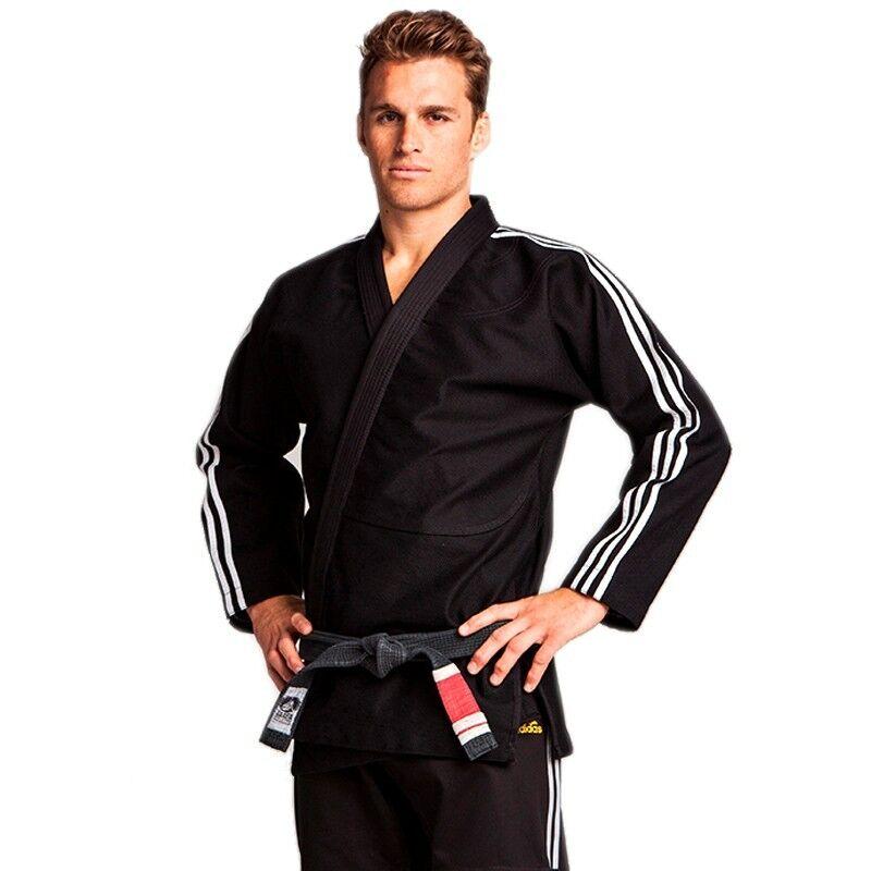 Adidas Bjj Gi Abito Uniforme Concorso Adulti Nero Brasiliano Ju Jitsu Ideale