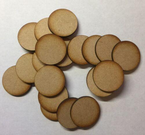 Wooden Circles Laser Cut 3mm MDF Embellishments Craft Decorations Shapes