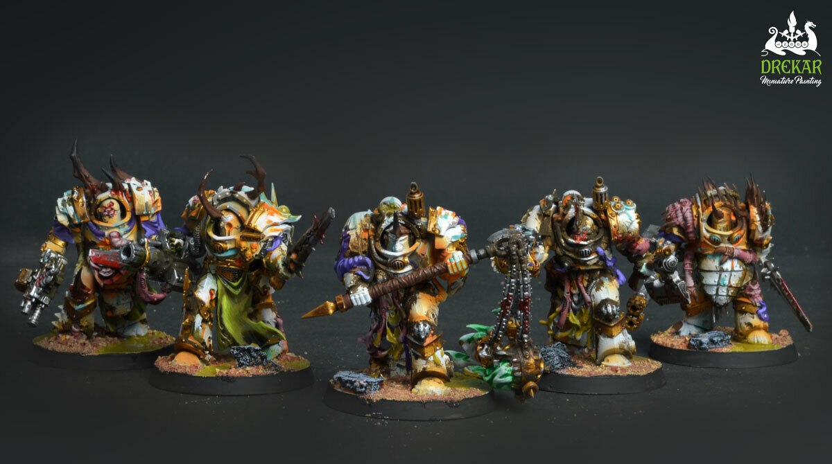 Blightlord Terminators Death Guard Nurgle    COMMISSION   painting  memorizzare