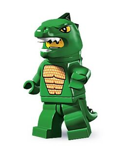 RARE-Lego-minifig-series-5-Man-in-green-Lizard-costume-suit-city-castle-sets