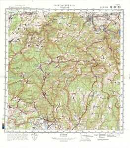 Topographical Map Of Germany.Russian Soviet Military Topographic Maps Saalfeld Germany 1 100k