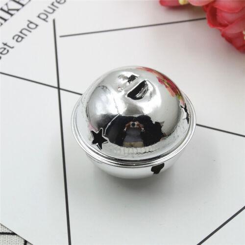 1pc Electroplating Bell Pet DIY Star Christmas Jingle Bell Pendant 9 Colors 50mm