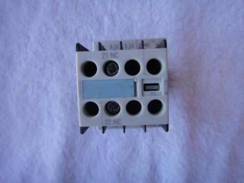 Siemens Auxillary Contact      3RT1016-1BB41  w// 3RH1911-1HA01