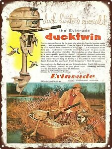 1967 Evinrude Motors Ducktwin Outboard Motor Boat Engine Metal Sign 9x12 A270 Ebay