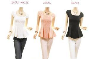 Celebrity-Jr-PLUS-Peplum-Lace-Ponte-Jersey-Knit-Fit-Blouse-Shirt-Top-1X-2X-3X