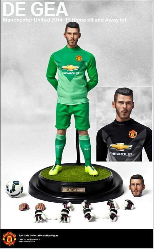 1 6 escala ZCWO Manchester United Football meta Keeper Tapón De Gea Nuevo David