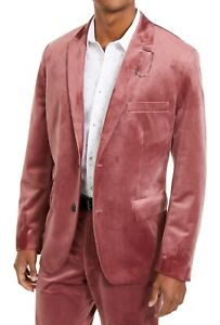 INC Mens Sport Coat Pink Size XL Slim Fit Velvet Two-Button Notched $149 #181