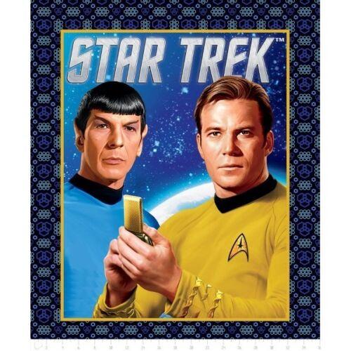 Star Trek Spock And Captain Kirk Space Adventure Panel 100/% Cotton Fabric
