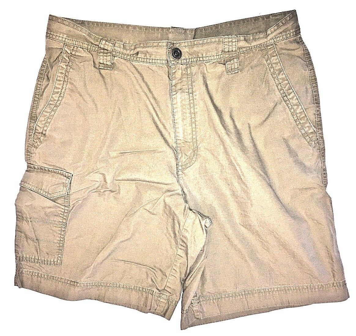 Columbia Men's Brown Cargo Shorts Hiking Camping Size 34