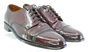 Cole-Haan-Caldwell-Oxford-Men-Sz-10D-Burgundy-Leather-Cap-Toe-Lace-Up-Dress-Shoe