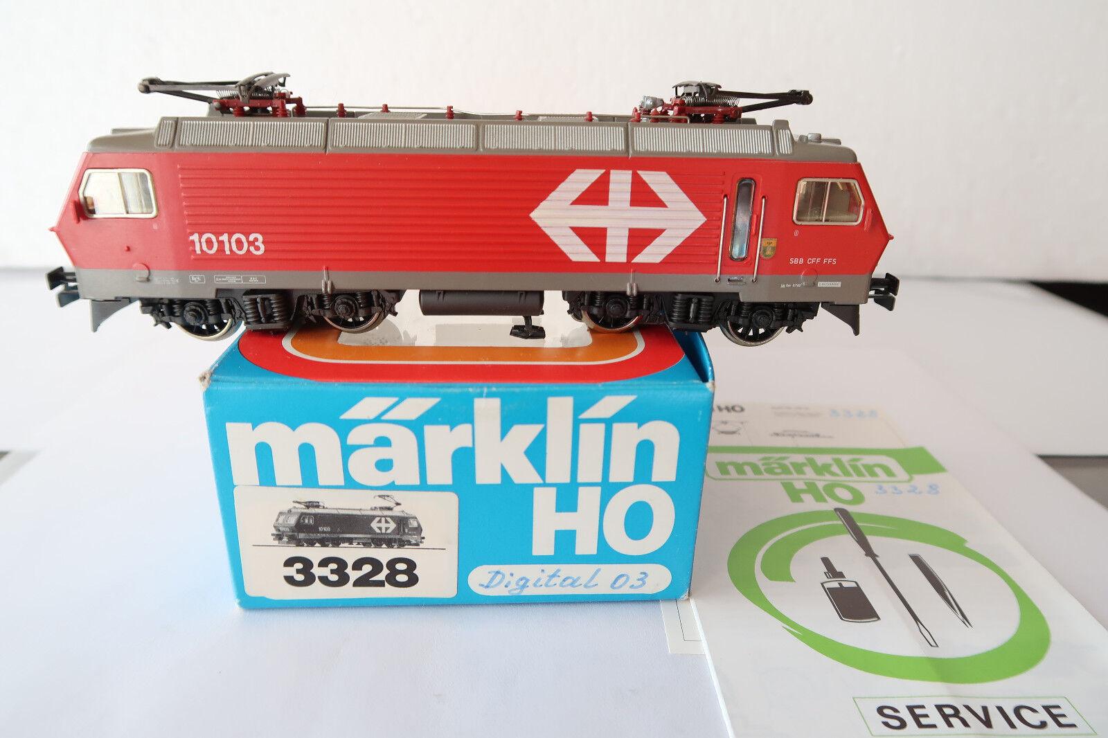 Digital Märklin HO AC 3328 E - Lok BR 10103 SBB (AB 359-35S11 2)