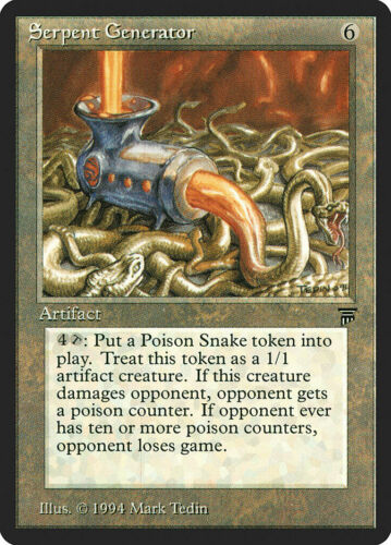 R Legends FREE US SHIPPING! LP MTG X1: Serpent Generator