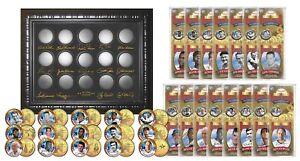 GOLDEN-BASEBALL-LEGENDS-24K-Gold-Plated-State-US-Quarters-15-Coin-Set-WALGREENS
