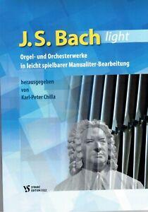 Kirchenorgel Noten : Johann Sebastian Bach - light - (Karl-Peter Chilla)