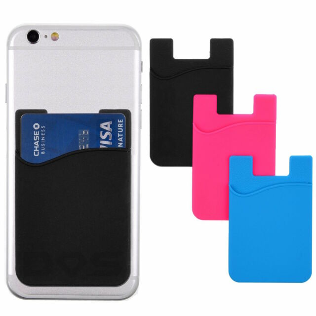 Phone Card Holder >> Stick On Wallet For Iphone All Smart Phone Credit Card Holder