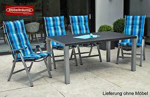 neu sun garden gartenm bel auflagen polster kissen in blau f r hochlehner sessel ebay. Black Bedroom Furniture Sets. Home Design Ideas