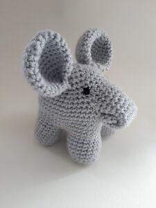 éNergique Handmade Crochet éléphant Peluche Personalise Made To Order-afficher Le Titre D'origine PosséDer Des Saveurs Chinoises