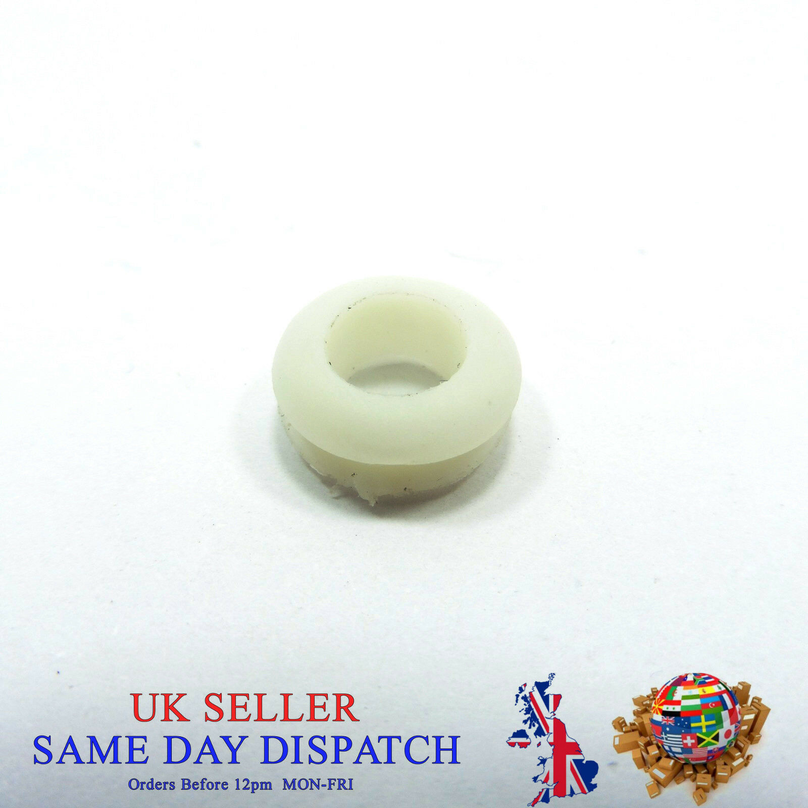 8mm 13mm Double Sided Rubber Grommets Cable Ring Wire Open Hole White