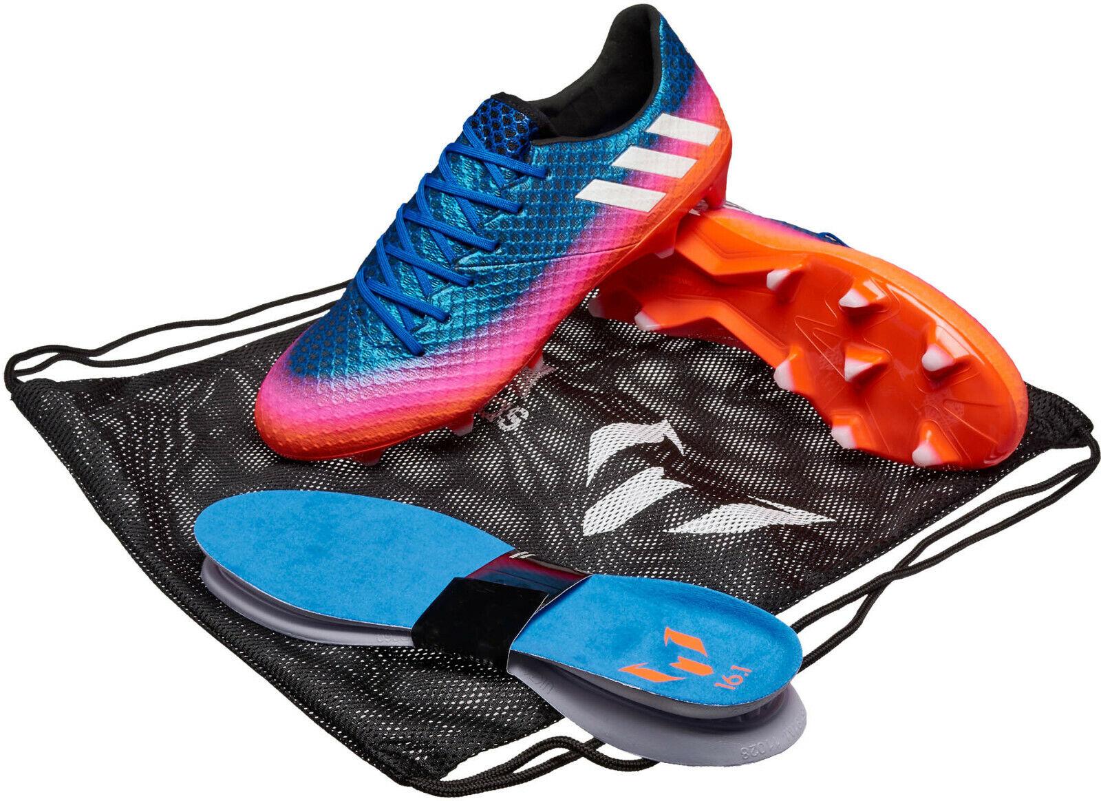 Adidas Messi 16.1 FG Botines De Fútbol Azul Solar Naranja 11.5 Nuevo en Caja Envío Rápido