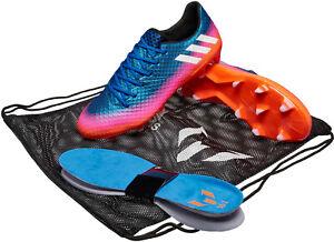 087c241b 🔥 adidas Messi 16.1 FG Soccer Cleats Blue Solar Orange Sz 12 NIB ...