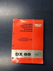 Ersatzteilliste Deutz DX 85 - Siebeneichen, Deutschland - Ersatzteilliste Deutz DX 85 - Siebeneichen, Deutschland