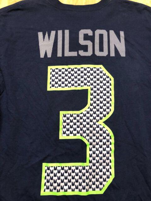 Russell Wilson Seattle Seahawks VINTAGE Nike NFL Shirt  83377f0018f47