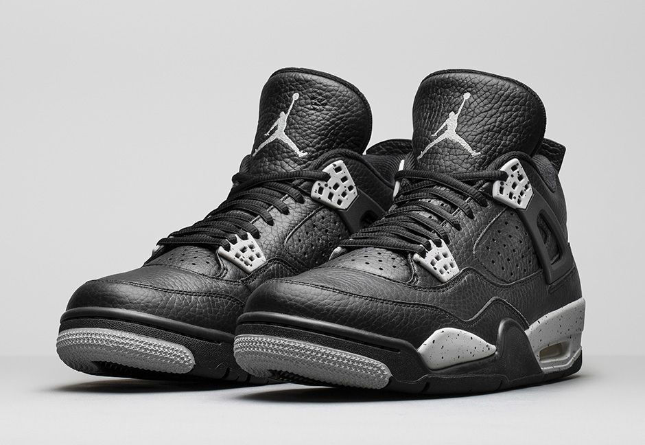 Air Jordan 4 IV Retro Black Tech Grey Oreo 2018 408452-003 bred cement The latest discount shoes for men and women